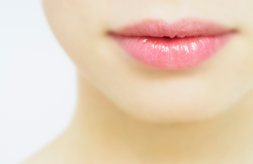 Young woman, close-up of lips