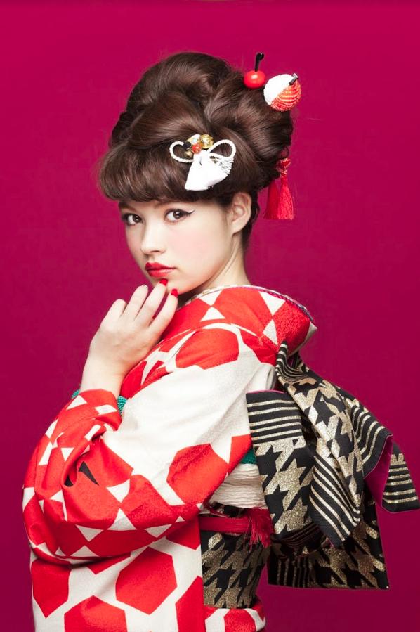 振袖ヘアスタイル,日本髪風