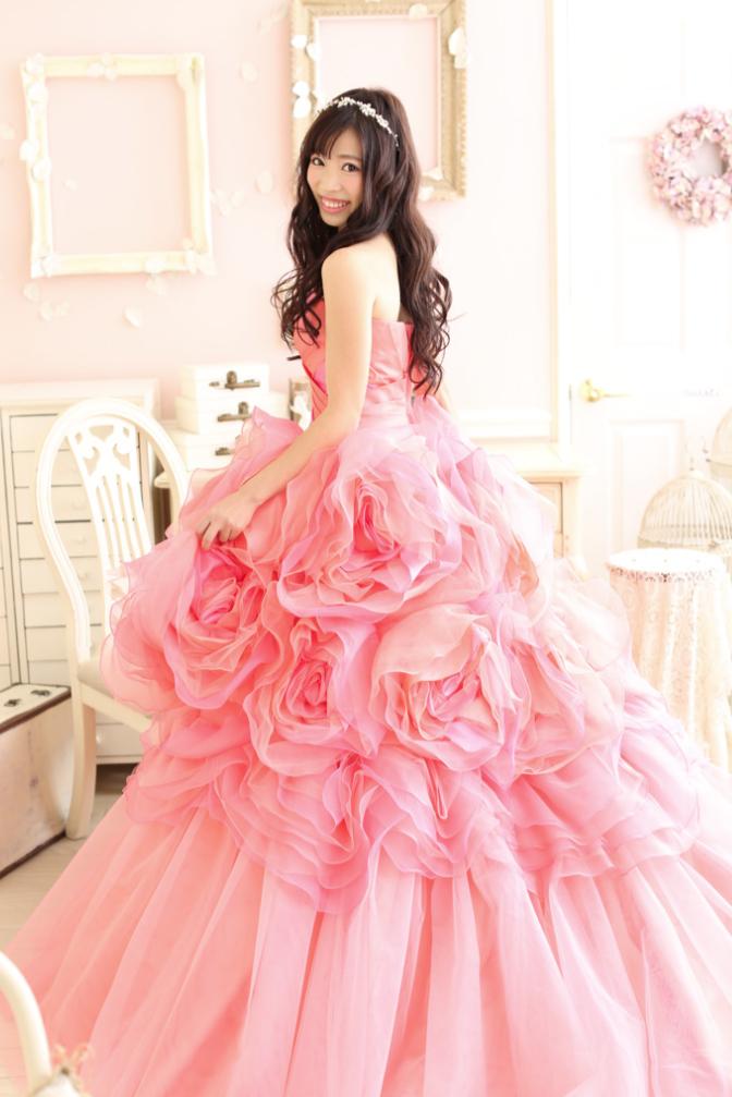 成人写真前撮り ドレス