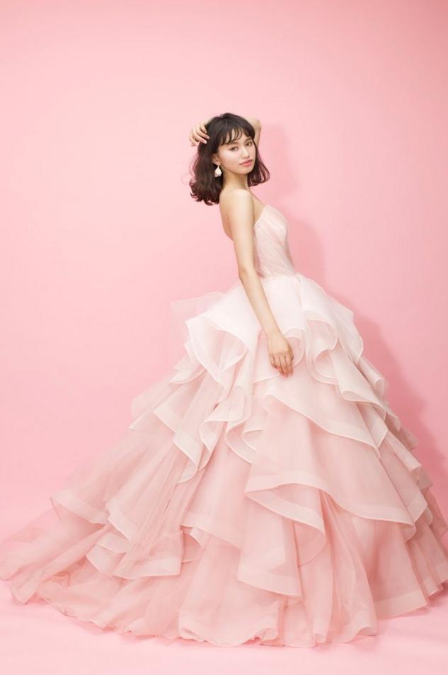 しほりちゃんピンクドレス