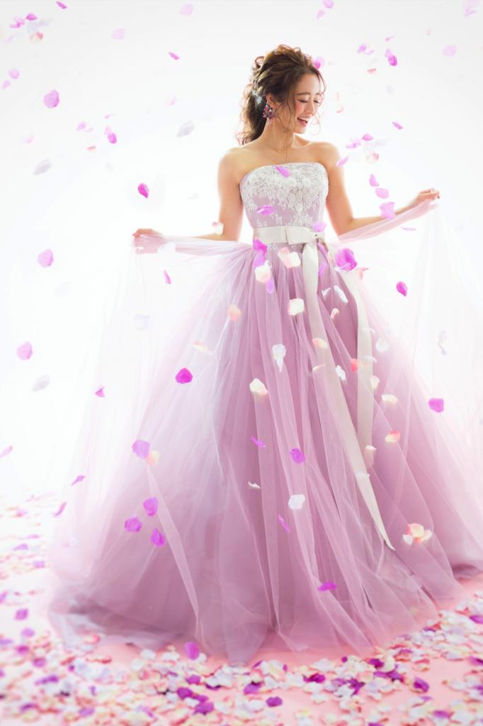 pinkdress カラードレス ウエディング スタジオ